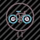 bicycle, bike, lane icon