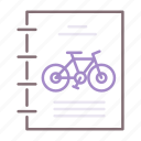 bicycle, cycling, laws icon