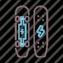 electric, power, skateboard, skating