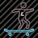 board, longboarding, skate, skater icon