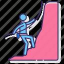 climber, climbing, sport icon