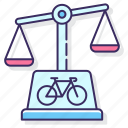 cycling, laws, scale icon