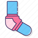 elbow, pads, protection, safety icon
