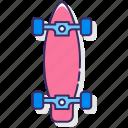 longboard, skate, skateboard, skating icon