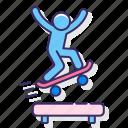 jump, skateboarding, skater icon