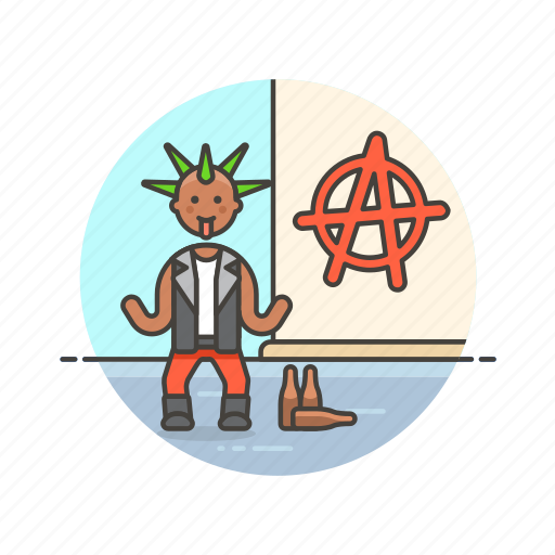 anarchist, man, rebel, revolution, sign, tribe, urban icon