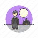 knight, man, medieval, night, soldier, tribe, urban, warrior icon