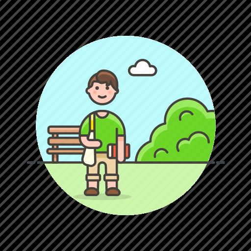 bench, man, meeting, nature, outdoor, picnic, urban icon