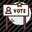 america, card, elections, politics, vote icon