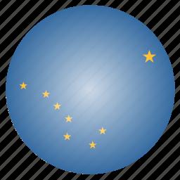alaska, flag, state, us icon