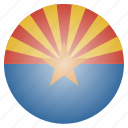 arizona, flag, state, us icon