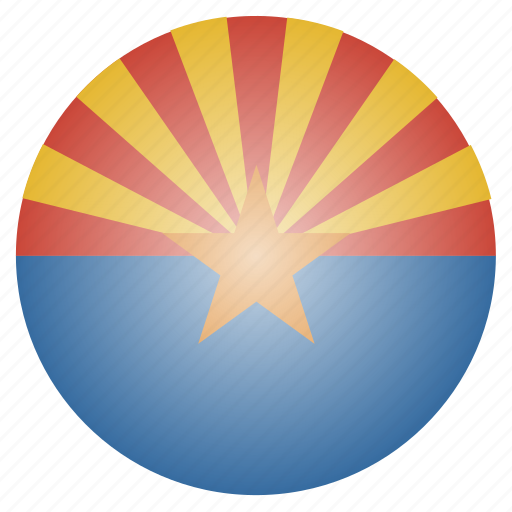 arizona, flag, state, us icon