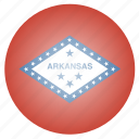 arkansas, flag, state, us icon