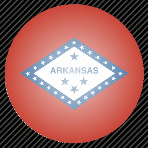 arkansas, flag, state, us icon