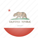 california, flag, state, us icon
