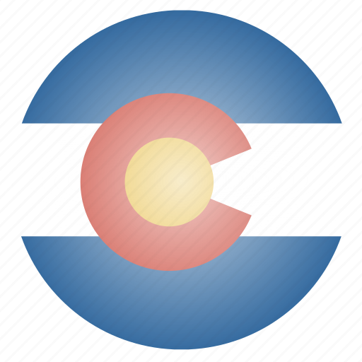 colorado, flag, state, us icon