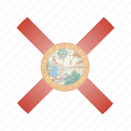 flag, florida, state, us icon