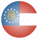 flag, georgia, state, us icon