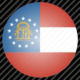 flag, georgia, state, us icon