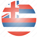 flag, hawaii, state, us icon