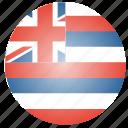 flag, hawaii, state, us icon