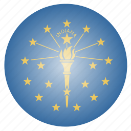 flag, indiana, state, us icon