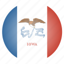 flag, iowa, state, us icon