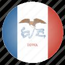 flag, iowa, state, us icon