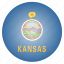 flag, kansas, state, us icon