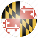 flag, maryland, state, us icon
