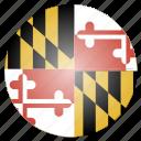 flag, maryland, state, us icon