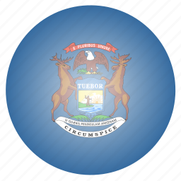 flag, michigan, state, us icon