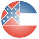 flag, mississippi, state, us icon