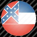 flag, mississippi, state, us icon
