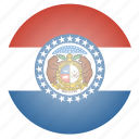 flag, missouri, state, us icon