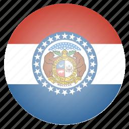 flag, missouri, state, us icon