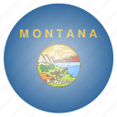flag, montana, state, us icon