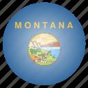 flag, montana, state, us icon