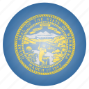 flag, nebraska, state, us icon