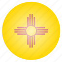 flag, mexico, new, state, us icon