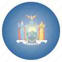 flag, newyork, state, us icon