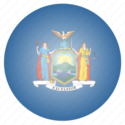flag, newyork, state, us icon
