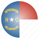 carolina, flag, north, state, us icon