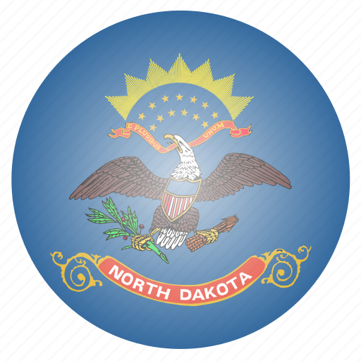 dakota, flag, north, state, us icon