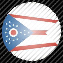 flag, ohio, state, us icon