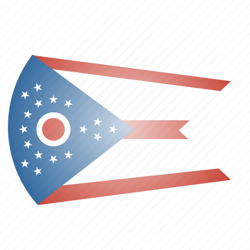 flag, ohio, state, us icon