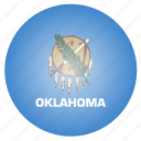 flag, oklahoma, state, us icon