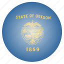 flag, oregon, state, us icon