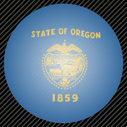 flag, oregon, state, us icon