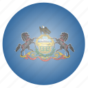 flag, pennsylvania, state, us icon